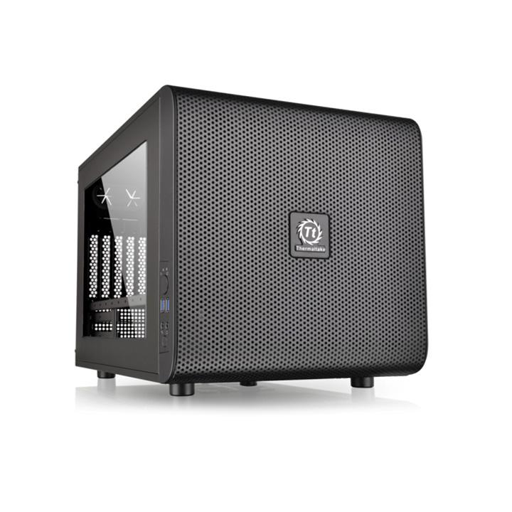 Корпус Thermaltake Core V21 черный w/o PSU mATX 11x120mm 7x140mm 1x200mm 2xUSB3.0 audio bott PSU