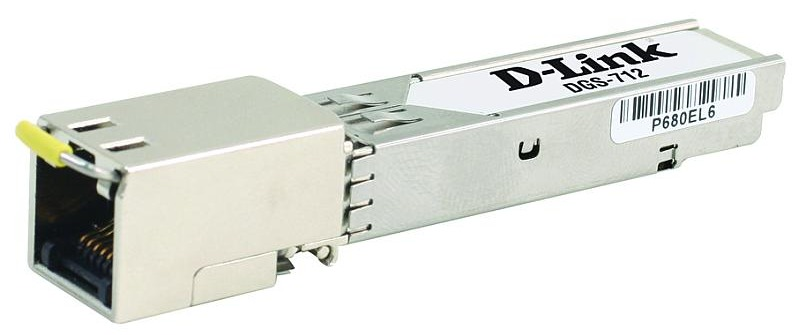 Модуль D-Link DGS-712, 1 port 1000BASE-T Copper  transceiver (up to 100m, support 3.3V power)