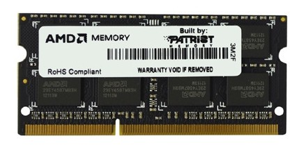 Память SO-DIMM DDR3 AMD 8Gb 1600MHz R538G1601S2S-UO OEM PC3-12800 CL11 204-pin 1.5В