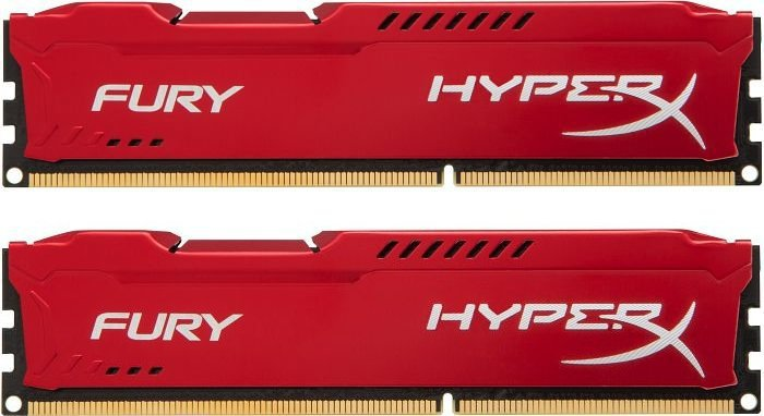 Память DDR3 KINGSTON 2x8GB 1333MHz HX313C9FRK2/16 HyperX FURY Red, Non-ECC, CL9, Kit, Retail
