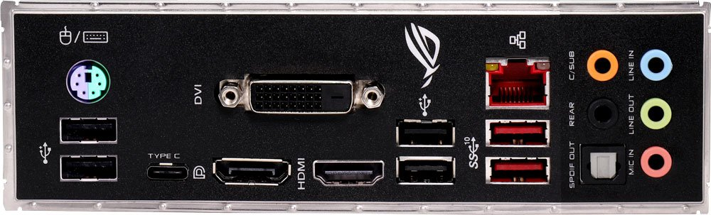 Материнская плата ASUS ROG STRIX B360-F GAMING Socket 1151v2, Intel B360, 4xDDR-4, 7.1CH, 1000 Мбит/с, USB3.1, USB 3.1 Type-C, DVI, ATX, Retail
