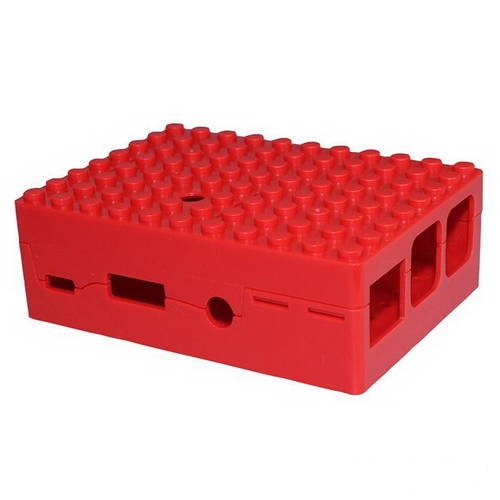 Корпус RA183 ACD Red ABS Plastic Building Block case for Raspberry Pi 3