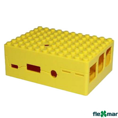 Корпус RA185 ACD Yellow ABS Plastic Building Block case for Raspberry Pi 3