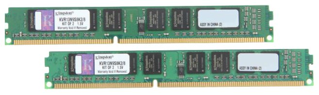Память DDR3 KINGSTON 2x4Gb 1333MHz (KVR13N9S8K2/8) Non-ECC, CL9, Kit, Retail