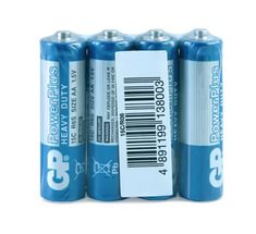 Батарея солевая GP Power Plus R6/4SH 15CEBRA-2S4 AA (4шт)
