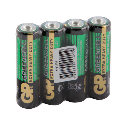 Батарея солевая GP Greencell 15G-OS4/15G-2S4 AA (4шт)
