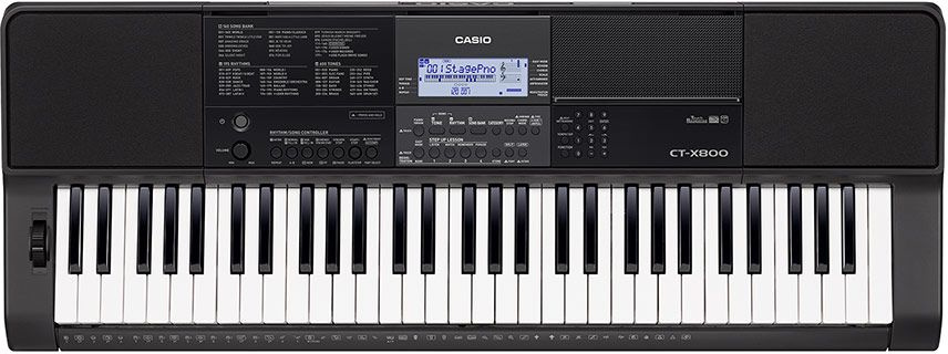 Синтезатор Casio CT-X800 61клав. черный