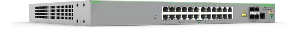 Allied telesis 24 x 10/100T POE+ ports and 4 x 100/1000X SFP (2 for Stacking), Fixed AC power supply