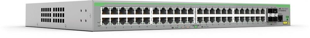 Allied Telesis 48 x 10/100T ports and 4 x 100/1000X SFP (2 for Stacking), Fixed AC power supply, EU