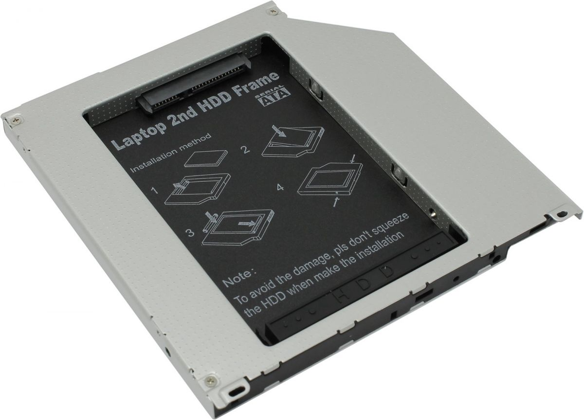 Адаптер оптибей Espada SS95U dvd slim 9,5 mm to hdd (mini sata to sata)